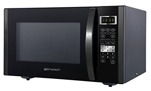Emerson ER105002 1.6 cu. ft. 1000W, Sensor Cooking Touch Control, Counter Top Microwave Oven, Black