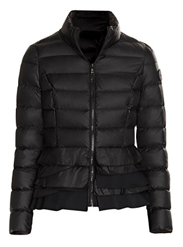 T Tahari Zoey Black Ruffled Coat (XL) -