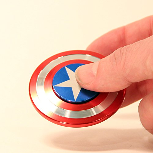 Zeekio The Captain Hand Spinner with Hybrid Steel Ceramic Bearing in American Colors