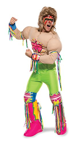 Ultimate Warrior Fancy Dress Costumes - Rubie's Costume Co Men's WWE Ultimate Warrior Grand Heritage Costume, Multi, Medium