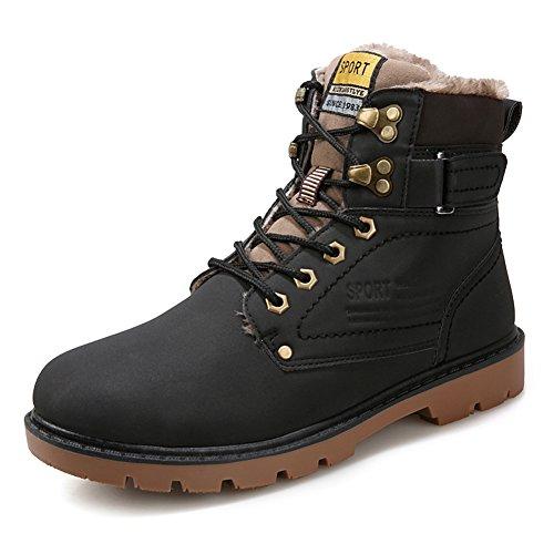 Ll Bean Hunting - Boots Snow Sneakers Men Women Shoes Outdoor Winter Ankle Fur Lined Warm Waterproof Booties Anti-Slip Black US 9