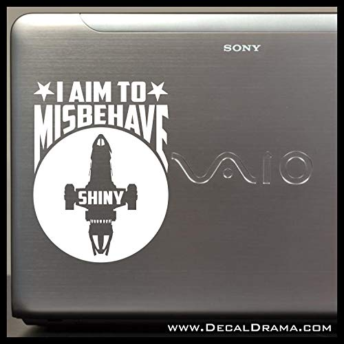 I Aim to Misbehave, Firefly-inspired SMALL Vinyl Car/Laptop Decal