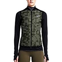 Nike Aeroloft Flash Womens Running Vest 689260 325 Sz X-Large Black/Khaki Org $280