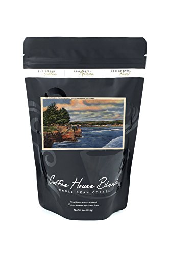 West Cliff Drive View of Pier and Casino (8oz Whole Bean Small Batch Artisan Coffee - Bold & Strong Medium Dark Roast w/ - Drive Casino