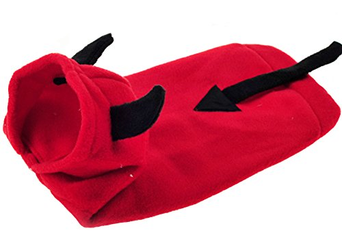 [PetWell Dog Cosplay Little Devil Autumn Flannel Pet Hoodie Cute Puppy Coat Party Costumes XS] (Devil Costume For Dog)