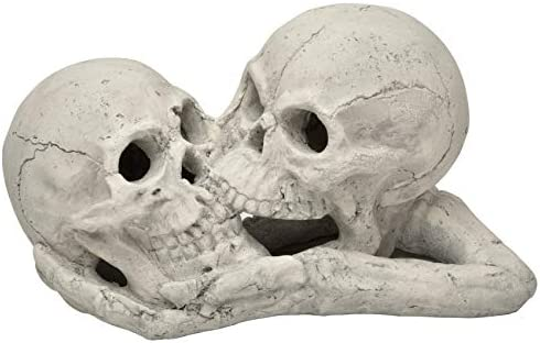 Stanbroil A Pair of Imitated Human Skull and Bones Gas Log