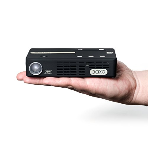 AAXA P4-X Android Wireless Smart Pico Projector, Built-in 90 Minute Battery & Touchpad, Office Viewer, Wi-Fi & Bluetooth, Android 5.1 OS, 175 Lumens, black
