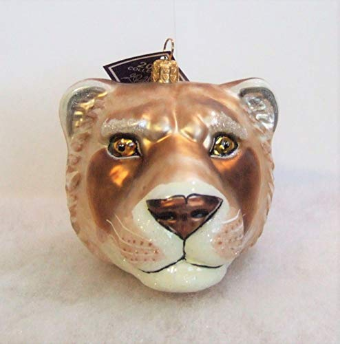 Slavic Treasures WIL081005 Lioness Head Blown Glass Ornament
