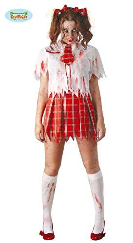 Guirca Adult Womens Halloween Zombie Schoolgirl Costume]()