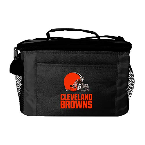 NFL Cleveland Browns Insulated Lunch Cooler Bag with Zipper Closure, Black