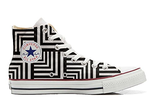 Customized All producto Geometric Artesano Star Personalizados Zapatos Converse ETwCOqz
