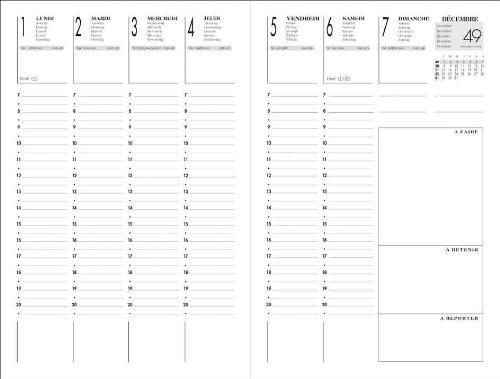 Relativ LECAS Agenda semainier 1 Semaine sur 2 pages 160 x 240 mm Noir  CG02