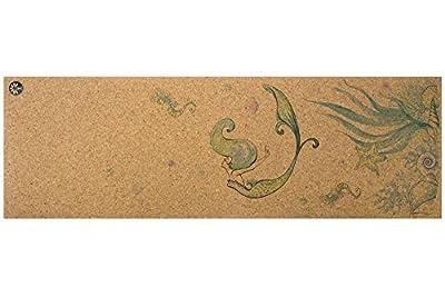 "Yoloha Cork Yoga Mat Nomad Cork Travel Yoga Mat, Non Slip, Sustainable, Soft, Durable, Foam, Highest Quality, Premium, Handmade, Moisture Resistant - 72"" x 24"", 4.5 mm thick"