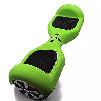 Carcasa de silicona para patinete eléctrico inteligente de equilibrio de 2 ruedas de 16.5 cm (6.5 pulgadas) Hover board, verde