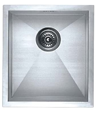 Stainless Steel Kitchen Sink -F4045 Square Single Bowl Undermount Laundry and Bar Sink