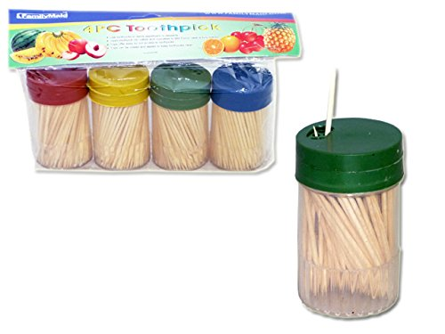 4 Pack Toothpick Set, 150 in each , Case of 96