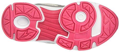Diadora 101.171268, Zapatillas de Running Infantil Gris (Argento DD/Rosso Flame)