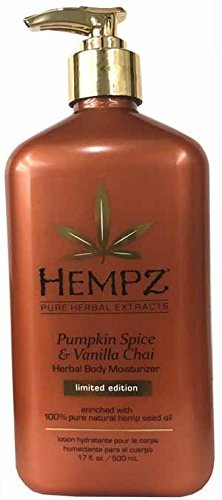 Hempz Pumpkin Spice & Vanilla Chai Herbal Body Moisturizer 17 oz. by Hempz