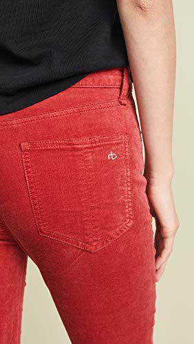 Aumento High Skinny Jeans Da Velluto Donna Rag Rosso And Bone qwpFnf0