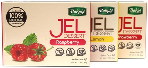 Bakol Jel Dessert Vegan & All Natural - Set of all 6 flavors
