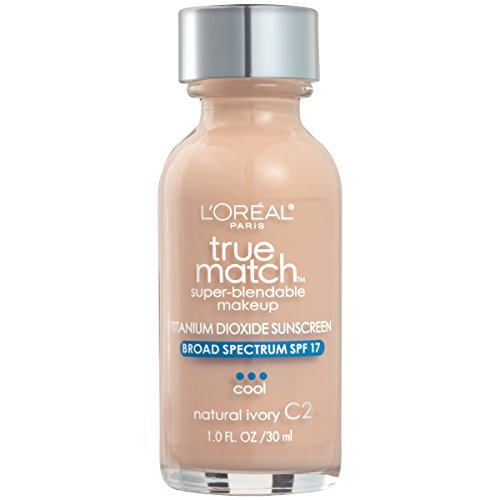 L'Oréal Paris True Match Super-Blendable Foundation Makeup, Natural Ivory, 1 fl. oz.