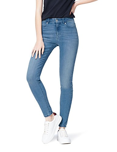 FIND Jean Skinny Taille Haute Femme Bleu (Light Blue)