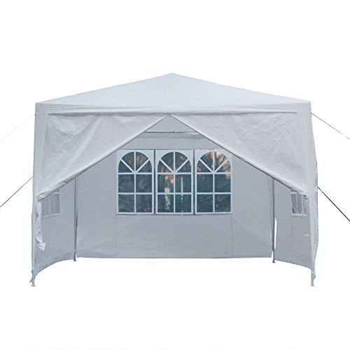 Cheap  Mefeir Heavy Duty 10'x10' Outdoor Canopy Gazebo Tent w/4 Removable Sidewalls, Upgraded..