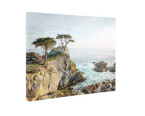 (Large Format Print, Canvas or Unframed, California Coastal Wall Art, Lone Cypress Tree Picture, Color or Black & White 'Lone Cypress' )