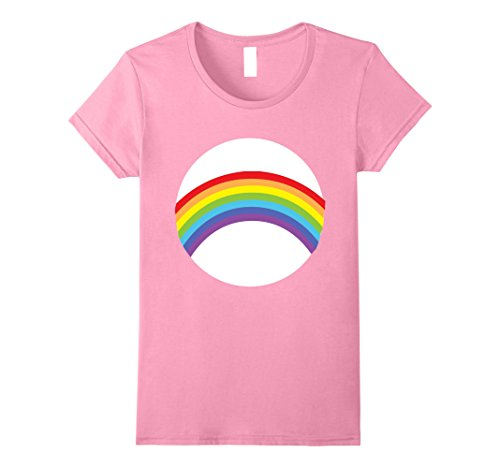 Care Bears Costumes For Toddlers (Womens Care For Bears Rainbow Halloween Group Costume TShirts Small Pink)