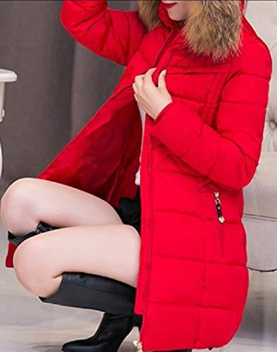EKU Overcoats Long Puffer Red Down Women's Outwear Coat Jacket Parka Hooded zRqzrn