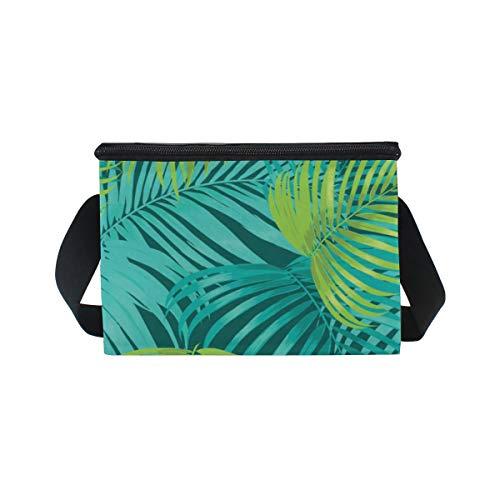 lunch Sac pour à à de Motif pique Boîte déjeuner feuilles Bandoulière nique palmiers refroidisseur rOUrpRqw