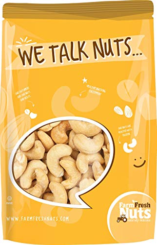 - Dry Roasted CASHEWS Himalayan Salted - Small Batch - Oven Roasted - Without Oil (3 LBS.) By Farm Fresh Nuts