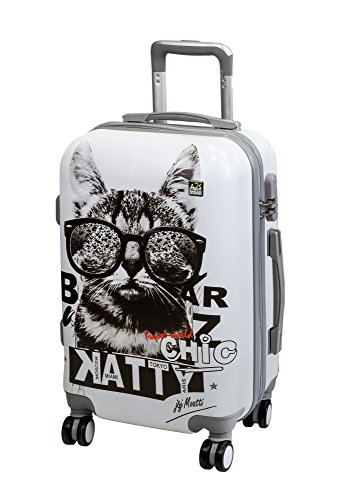 on Durable amp; Luggage with Hard Suitcase Sunglasses Spinner Shell Polar Cabin Bag Wheels With Carry Bear Cat Airplanes A2S 8 55x35x22cm Lightweight qwOCngcS