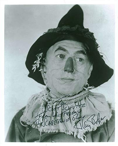 Ray Bolger Scarecrow Signed Autographed 8x10 Photograph Beckett BAS -