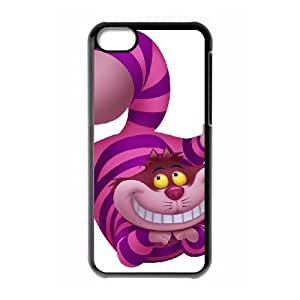 iPhone 5c Phone Case Black Disney Alice in Wonderland Character Cheshire Cat as a gift H6004135