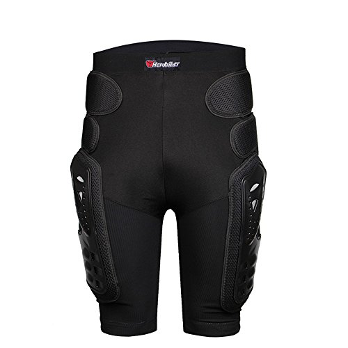 HEROBIKER Unisex Moto Sport Protective Gear Hip Pad Motorcross Off-Road Downhill Mountain Bike Skating Ski Hockey Armor Shorts (XL) by HEROBIKER