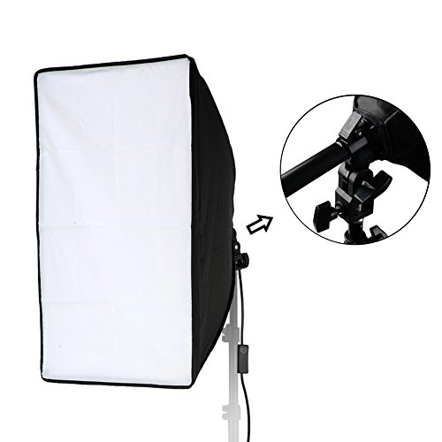 Lightdow 20x28(50x70cm) Studio Softbox Only(NO Light Stand), 9ft/2.8m Long Cable with E27 Screw Socket (Upgrade Version with Hand Grip & Spring Lock System) by Lightdow