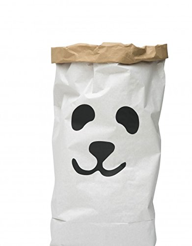 TELLKIDDO Storage BagPanda, Paper, Black/White, 55 x 22 x 80 cm 11
