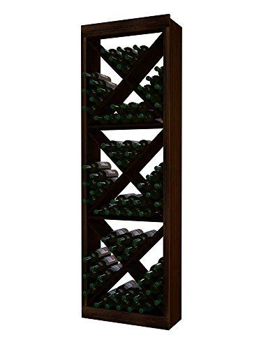 - Wine Cellar Innovations RP-DW-SDC(G2)-A3 Traditional Series Solid Diamond Cube Wine Rack, Rustic Pine, Dark Walnut Stain