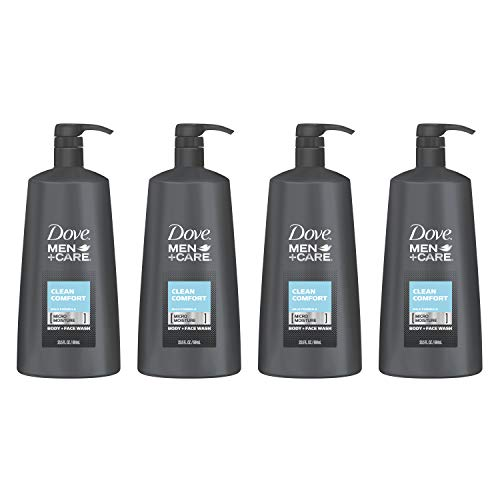 (Dove Men+Care Body Wash Pump, Clean Comfort, 23.5 Ounce (Pack of 4))