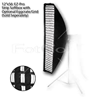 "Fotodiox EZ-Pro Strip Softbox 12x56 ""con Speedring para Bowens Gemini Standard, Classica Powerpack, R, RX y Pro Series Strobe"