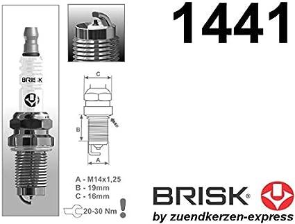 Brisk Iridium Racing DOR14IR 1441 Candele daccensione Set di 4