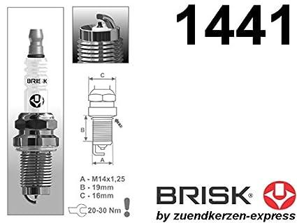 BRISK Iridium Racing DOR14IR 1441 Bujías de Encendido, 4 piezas: Amazon.es: Coche y moto