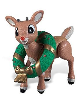 Rudolph the Red Nosed Reindeer Santa Claus Poseable Figurine (Poseable Rudolph Reindeer)