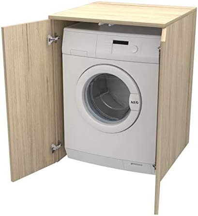anche su misura diversi colori Ve.Ca realizzato in legno lavanderia bagno arredo casa Bianco larice copri lavatrice//asciugatrice Mobile Coprilavatrice con ante