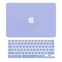 "Unik Case-2 in 1 13 Inch Rubberized Hard Case & Silicone Skin for Macbook 13"" Air A1369/A1466 Shell Cover-Serenity Blue"