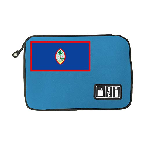 Guam Flag New Stylish Data Cable Storage Bag Suitable For Young People  Adults Blue