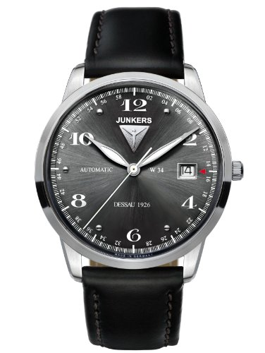 Junkers Flatline Automatic Watch with Anthracite Dial 6350-2