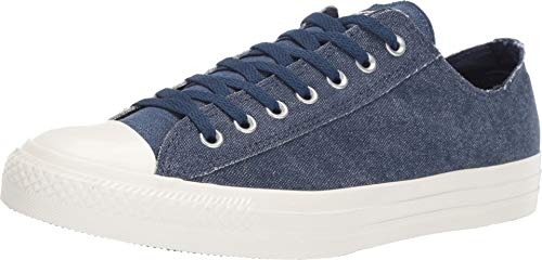 Converse Chuck Taylor All Star Ox Washed Out (9 Women / 7 Men M US, Navy/Egret/Egret)