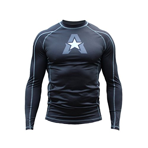 Anthem Athletics NEW! 10+ Styles HELO-X Long Sleeve Rash Guard Compression Shirt – BJJ, MMA, Muay Thai – Black – X-Large